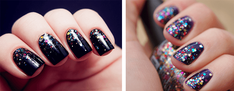 10 id es nail art faciles faire pour no l ou le nouvel an - Nail art nouvel an ...